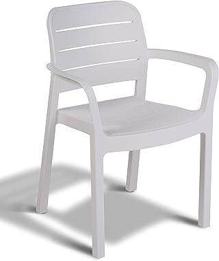 Keter - Silla de jardín exterior Tisara, Color blanco
