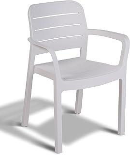 Keter - Silla de jardín exterior Tisara Color blanco