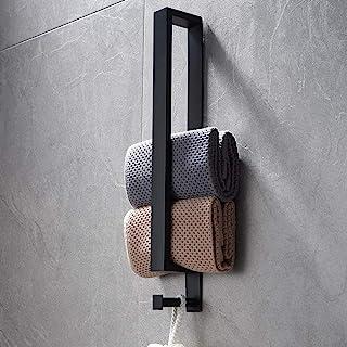 Lolypot Porte-serviettes en acier inoxydable, porte-serviettes sans perçage, porte-serviettes invité auto-adhésif 40cm ave...