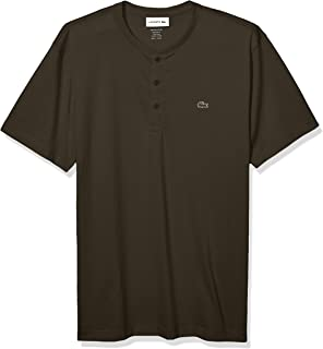 Lacoste Men's Short Sleeve Henley Jersey Pima T-Shirt