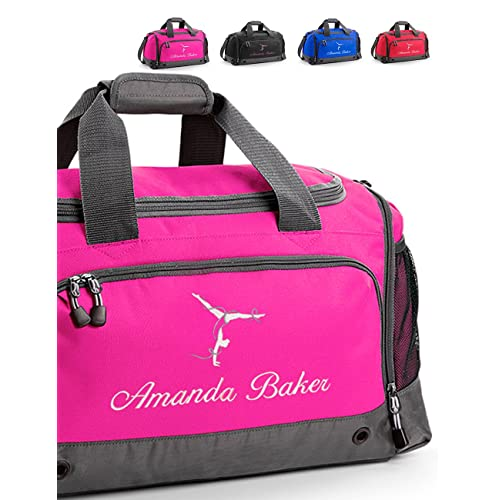 f3382c8ef3 Harlequin Designs Personalised Embroidered Gymnastics Bag, Holdall