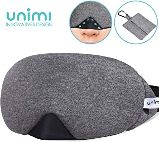 Eye Mask for Sleeping, Unimi Cotton Sleep Mask & Blindfold for Men Women, 100% Light Blocking, Super Soft and Comfortable, Eye Cover for Travel