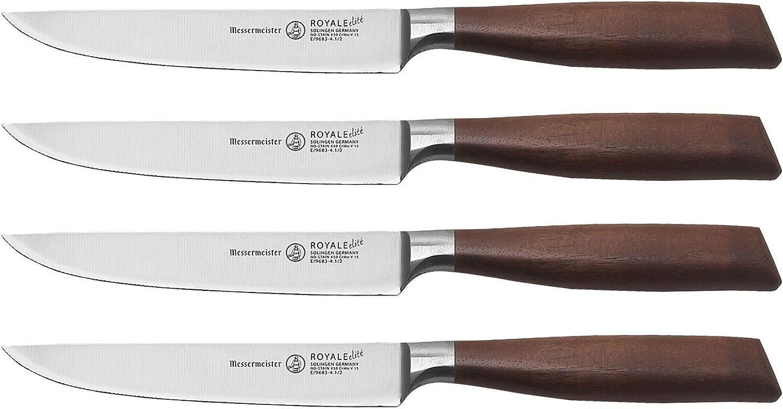 Messermeister Royale Elit 4 Piece Multi Edge Steak Knife Set