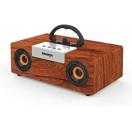 【衝撃的な低音】木製Bluetoothスピーカー,Smalody PCスピーカー2.1HDポータブルワイヤレススピーカーステレオサブウーファーTFスロットゲーム/コンピューター/電話/ラップトップ/プロジェクター用