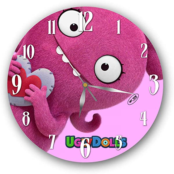 Gift Shop Exclusive Wall Clock Uglydolls 11 Inch Unique Item For Home And Office Original Present For Every Occasion Handmade Plastic Acrylic Glass