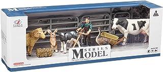 Zhong Jieming Toys Miniature Farm Animal Figures with Farmer Action Figure - 14 Pieces