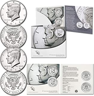 2014 P & 2014 D Kennedy Half Dollar P & D High Relief 2 Coin 50th Anniversary Coin Set Uncirculated