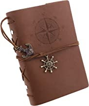 SING F LTD Refillable Vintage Leather Journal Notebook for Travelers Business Sketching Writing