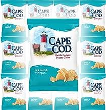 Cape Cod Sea Salt & Vinegar Kettle Cooked Potato Chips, Gluten-Free, 1.5oz Bag (Pack of 12, Total of 18 Oz)