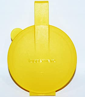 Tupperware Forget Me Not Keeper Hanging Round Container Yellow