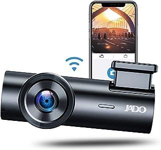 JADO ドライブレコーダー wifi搭載 超小型 高級感金属材料 170°度広角視野 FHD1080P 駐車監視 野視機能 配線不要 取付簡単 HDR機能搭載 32GBカード付き 日本語説明書付き 降圧ケーブル無料提供 24ヶ月品質保証