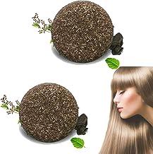 Organic Gray Reverse Shampoo Bar, 2pcs Soap Essence Hair Darkening Shampoo Bar Natural Organic Conditioner and Repair (B)