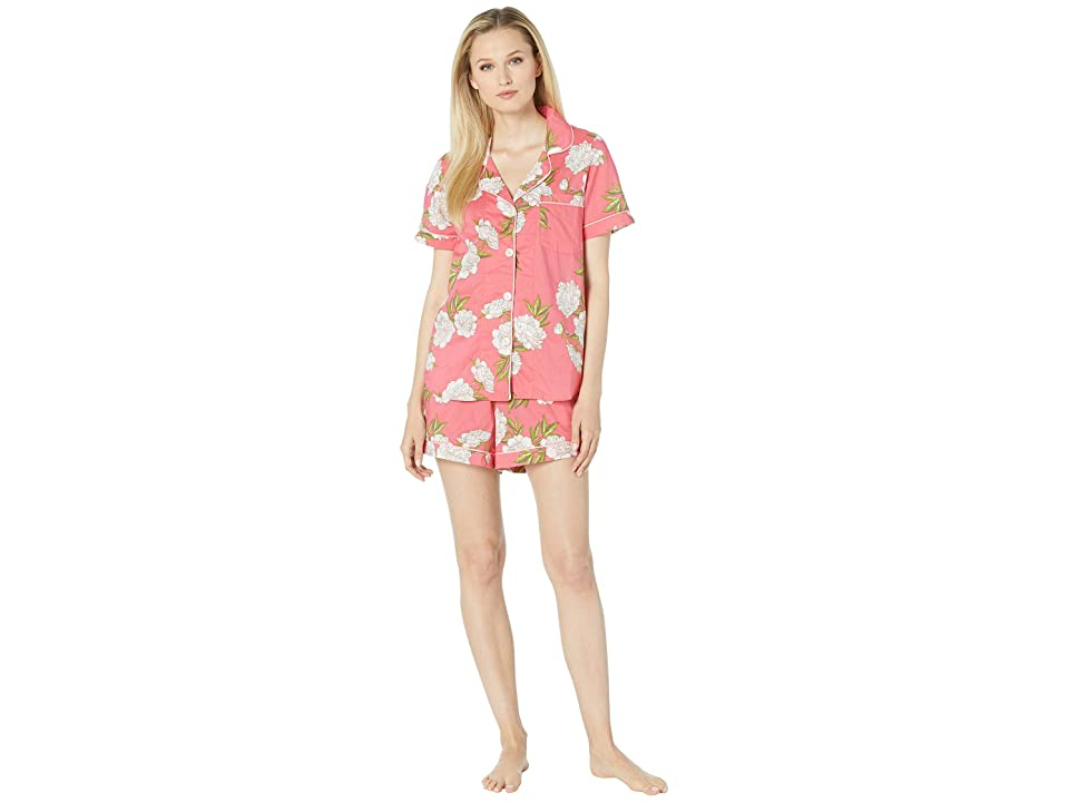 BedHead Pajamas Short Sleeve Classic Short Pajama Set (Hermosa Bloom) Women