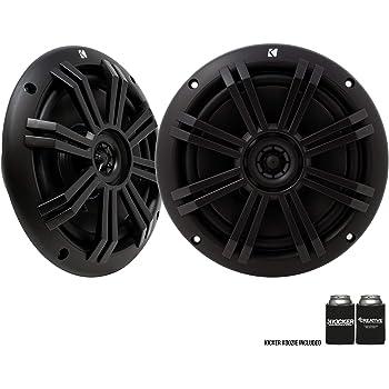 "KICKER Black OEM Replacement Marine 6.5"" 4 Ohm Coaxial Speakers"