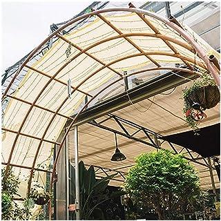SHIJINHAO Shading Net Sun Network Anti-UV Block Light Outdoor Privacy Fence 4-corner Reinforcement Metal Ring Polyethylene...
