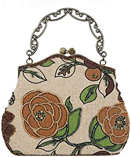 IRVING High-end Evening Clutches Bag for Women New Handbags Shouder Bags (Color : Brown)