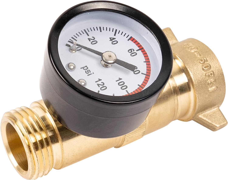 Hourleey Brass Hi-Flow Pressure Water Lead Regulator Weekly update W Free Popular brand in the world RV