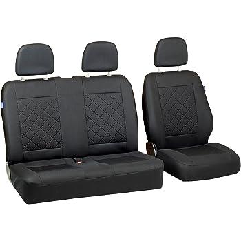hier in BLAU. Sitzbezüge 1+2 für VW Transporter T4 Alkantra mit Kunstleder