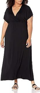 Women's Plus Size Surplice Maxi Dress