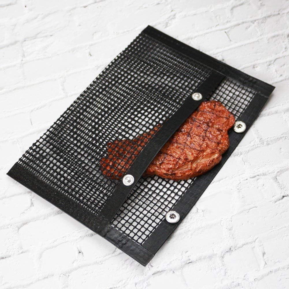 chungeng Anti - Adhérent Barbecue Grille Tapis Barbecue Sac Haute Température Résistant Barbecue Tapis - GD-L Bk-l