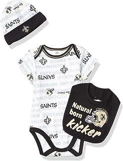 NFL Boys 3 Pack Bodysuit Cap and Bib Set