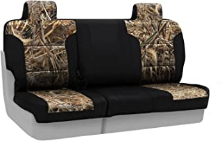 Coverking Rear 60/40 Bench Custom Fit Seat Cover for Select Jeep Compass Models - Neosupreme Camo Real Tree (Max-5 with Black Sides)