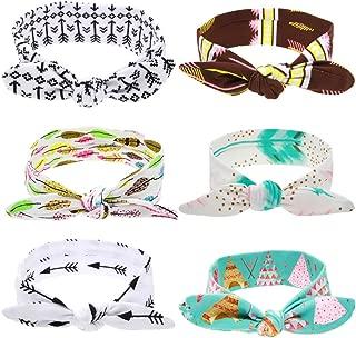 Roewell® Baby Girl Turban Headbands and Bows Newborn Hair Bows and Headbands