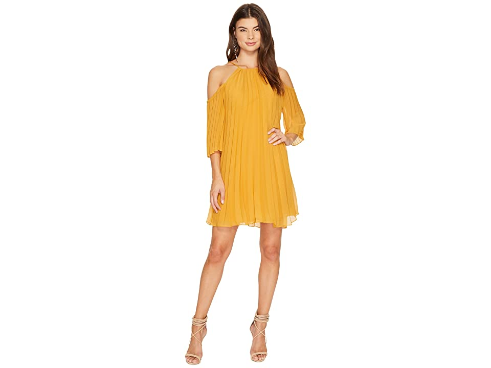 BB Dakota Gretel Pleated Shift Dress (Royalty Yellow) Women
