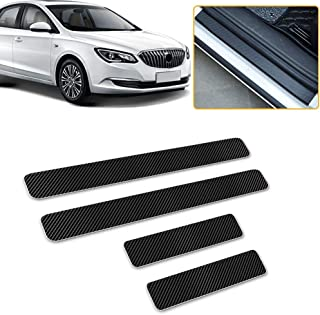 Longzhimei Car Door Sill Protector for Subaru Legacy Forester Crosstrek Outback Door Entry Guard Welcome Pedal Threshold 4D Carbon Fiber Stickers Anti-Scratch