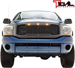 Tidal Replacement Upper Grille Front Hood Full Grill for 02-05 Dodge Ram 1500//03-05 Dodge Ram 2500 3500 Heavy Duty