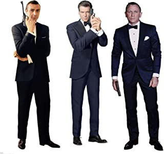 SEAN CONNERY PIERCE BROSNAN DANIEL CRAIG JAMES BOND 007 LIFESIZE CARDBOARD STANDUP STANDEE CUTOUT POSTER SET OF THREE