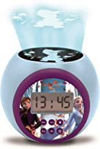 Lexibook RL977FZ Projector Clock Disney Frozen 2 Anna Elsa with Snooze Alarm Function, Night Light with Timer, LCD Screen,...