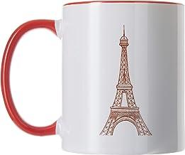 Eiffel tower Printed Coffee Mug, Red Color (Ceramic)