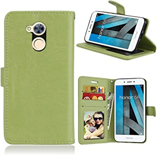 JINXIUS for Phone Cases Cover, Huawei Honor 6A Case,Solid Color Premium PU Leather Wallet Magnetic Buckle Design Flip Folio Protective Case Cover for Huawei Honor 6A (Color : Green)