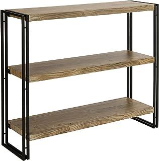 FIVEGIVEN 3 Tier Bookshelf Rustic Industrial Bookcase with Modern Open Wood Shelves, Sonoma Oak
