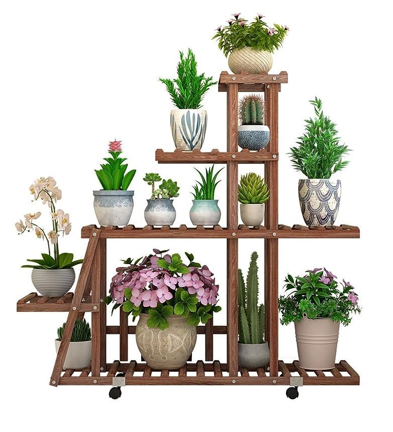 ZGYQGOO Solid Wood Flower Shelf Indoor Multi-Layer Plant Storage Shelf, Living Room Balcony Outdoor Plant Shelf (Color : C)