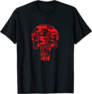 Red ape Camo Casual bathing apparel Adult Kids 19Skull T-Shirt