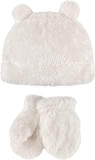 Baby Girls' Cozy Sherpa Hat & Mitten Set
