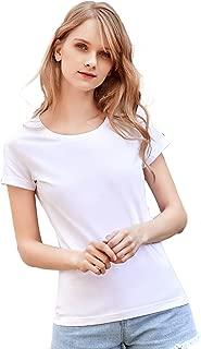 Artka Women's Short-Sleeve Crewneck T-Shirt Cotton Undershirts