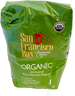 San Francisco Bay USDA Organic Rainforest Blend Medium Dark Coffee 2 Lb Bag