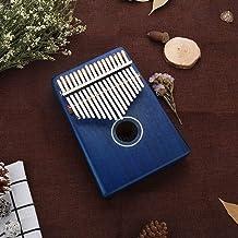 17-Tasten-Daumen Klavier C-Ton (como el piano) Metalltasten Mahagoni-Brett 11-colores para Anfänger con Musikliebhabern azul real
