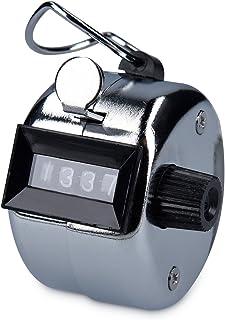 kwmobile Contador Manual de 4 dígitos - Contador de clics mecánico - Contador de Metal para Atletismo Golf y Controles - Contador metálico