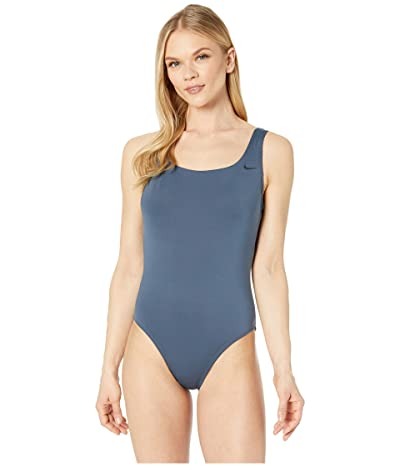 Nike Solid U-Back One-Piece (Monsoon Blue) Women