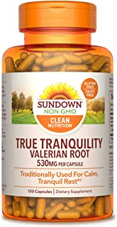 Sundown Valerian Root Whole Herb 530 mg, 100 Capsules ( Pack of 3 )