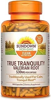 Sundown Valerian Root Whole Herb 530 mg, 100 Capsules ( Pack of 3 )