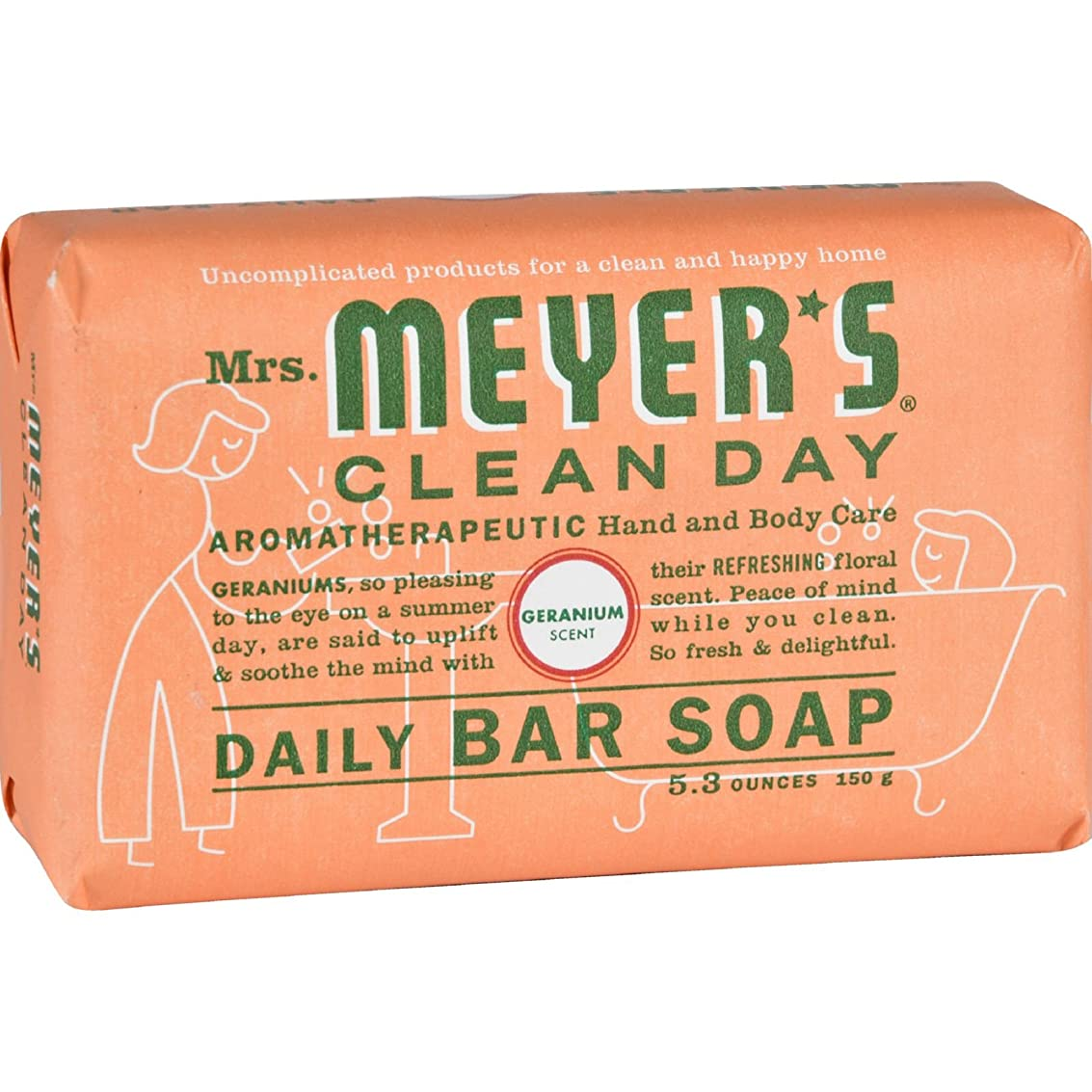 正しく構成むしろMrs. Meyers Bar Soap - Geranium - 5.3 oz - 1501071