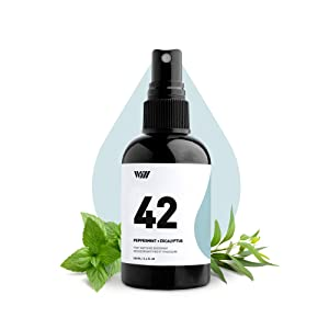 42 Foot and Shoe Spray, Essential Oil-Based Mist, All-Natural Ingredients Feet and Shoe Deodorizing Spray (Peppermint, Eucalyptus, Thyme Essential Oils, 100% Natural Coffee Extract) – Way of Will