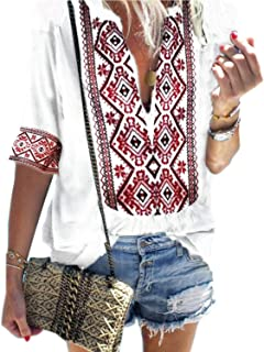 Best white bohemian blouse Reviews