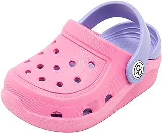 Sponsored Ad - dripdrop Girls Comfort Clogs Kids Slip On Garden Shoes Boys Lightweight Beach Pool Slide Sandals Shower Sli...