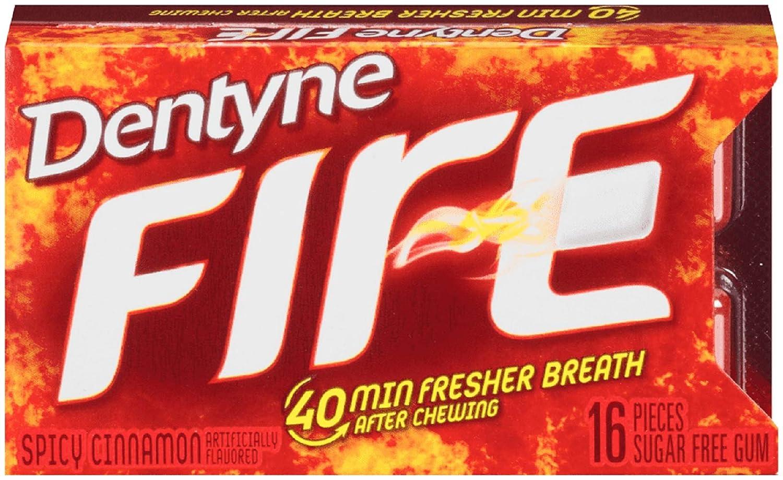 San Francisco Mall CADBURY service ADAMS USA Dentyne Fire Cinnamon 0.0500-Ounce Gum Spicy
